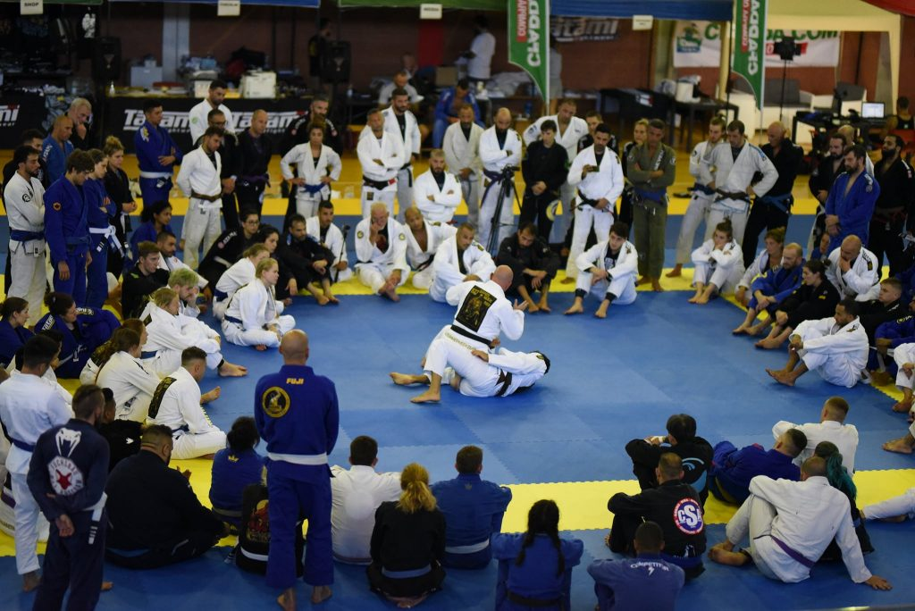 People in BJJ Seminar