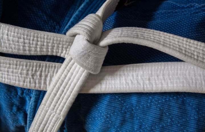 White belt in BJJ Camp
